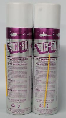 2 x NEW ACF-50 Motorcycle Anti Corrosion Protective Lubricant Spray 369g