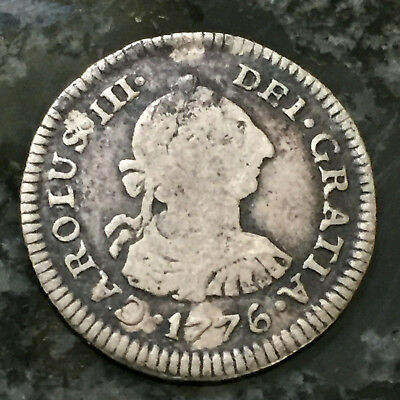 Colonial Times 1776 Spanish Silver 1/2 Reale