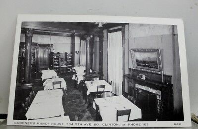 Iowa Goodners Manor House Clinton Postcard Old Vintage Card View Standard Post