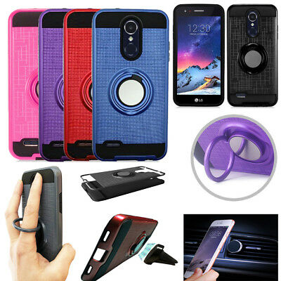 Phone Case for LG Aristo 3 / Tribute Empire Car Magnetic Mount ShockProof Cover