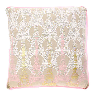 Claire's Eiffel Tower Foil Print Throw Pillow New with Tags
