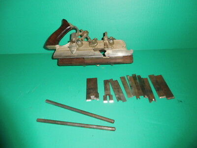 Vintage Stanley No. 45 Combination Plane with Cutters & Long Rods