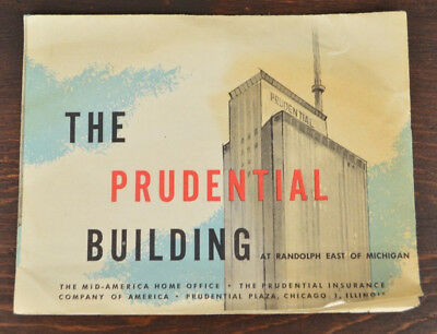 1960s Prudential Insurance Building Pamphlet Randolph Chicago Tallest Building