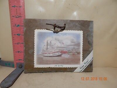 Vieux Carre' Roofing Slate Card - The Riverboat Natchez - New , No Damage!