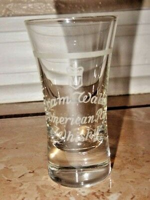 Rare Early Hiram Walkers American Rye Whisky Etched Shot Glass