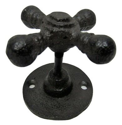 """Antique Style Rustic 2"""" x 2""""  Faucet Handle Cast Iron Coat Hook  Drawer Pull"""