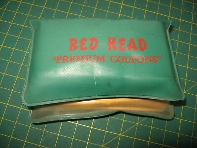 Vintage Red Head Gas Gasoline Oil Advertising Folder Coupons Wooster Ohio Nr