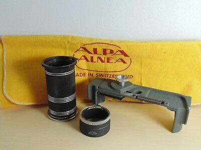 1950's Alpa Alnea 35mm Camera Accessories  - Lens Tube Etc.