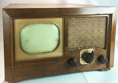 """Vintage 1948 ADMIRAL Model 19A1-S-A B&W 7"""" Tube TV Television w Wood Cabinet"""