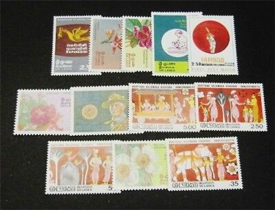 nystamps British Ceylon Sri Lanka Stamp # 626//639 Mint OG NH $31