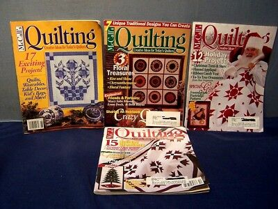 LOT of 4 McCALL'S QUILTING MAGAZINES SEPT 1993, OCT & NOV 1996, DEC 1997 QUILTS