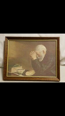 Best Ever Picture Of Old Man Praying Over Bread Decor