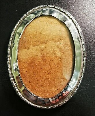 Antique Silver Oval Picture Frame Birmingham 1919