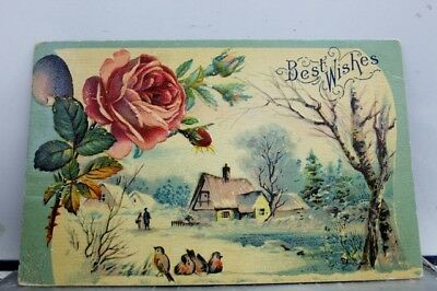 Greetings Best Wishes Postcard Old Vintage Card View Standard Souvenir Postal PC