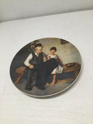 The Lighthouse Keeper's Daughter By Norman Rockwell 1979 Vintage Knowles Plate