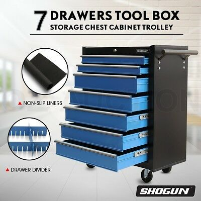 SHOGUN 7 Drawers Tool Box Chest Roller Cabinet Toolbox Trolley Rust Resistant