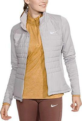 44a9067fd65 Nike Women Essential Filled Running Jacket Coat Themore S Gray Full Zip New