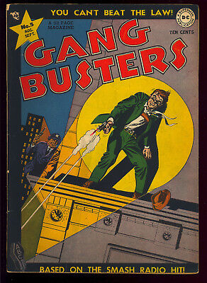 Gang Busters #5 Nice Pre-Code Golden Age DC Crime Comic 1948 GD-VG