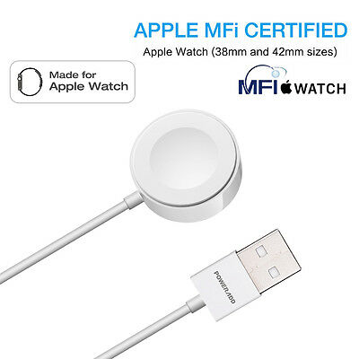 For Apple Watch iWatch 38mm & 42mm Wireless Magnetic Charger Charging Cable
