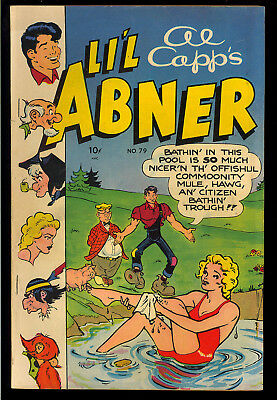 Li'l Abner #79 Nice Al Capp Golden Age Toby Press Comic 1950 FN