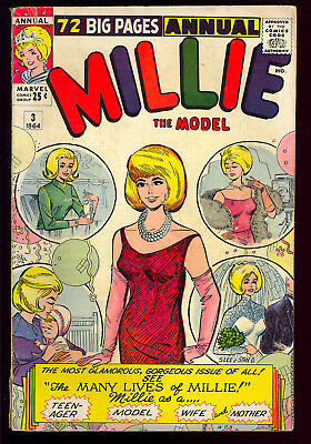 Millie the Model Annual #3 Nice Silver Age Teen Marvel Giant Comic 1964 GD-VG