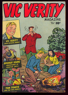 Vic Verity Magazine #6 Nice C.C. Beck Art Golden Age Comic Book 1946 VG