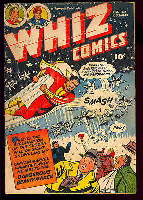 Whiz Comics #152 Low Distribution Golden Age Captain Marvel Fawcett 1952 GD
