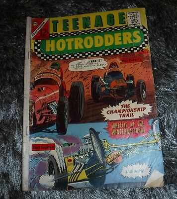 Teenage Hotrodders Sept.1965 The Championship Trail-Charton Comics Vintage