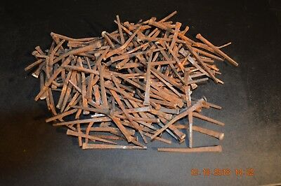 "1 1/2 + Pounds Of Old-Antique Steel Cut Square Nails, Most 2"" To  2 1/2"" Long"