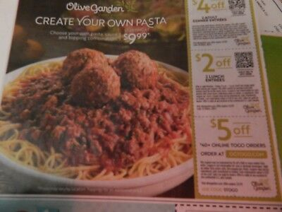 Olive Garden Coupons ~~ SAVE up to $11~~  Expire 03/02/2019