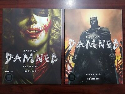 Batman Damned 2 HARLEY QUINN, JIM LEE VARIANT LOT DC BLACK LABEL