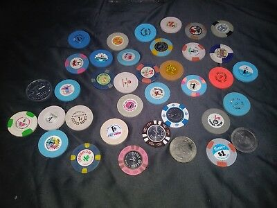 37 $1 Chips Vintage Chip Collection Stardust Flamingo Riviera Circus Circus
