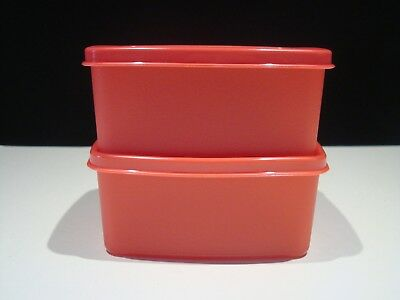 New Old Stock Set of 2 Guava Red Tupperware Freeze It™️ Small Containers