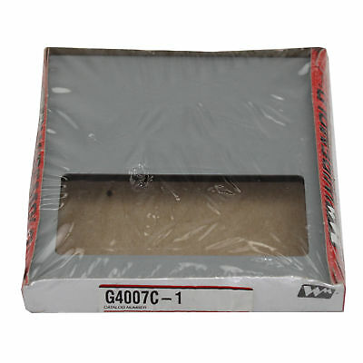 Wiremold Legrand G4007C-1 1-Gang Overlapping Device Box Cover Plate, Gray