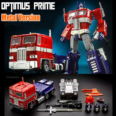 "8"" KBB MP10-V  Masterpiece G1 Optimus Prime Metal + ABS Version  Action Figure"