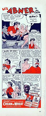 Lil Abner Cream of Wheat Ad Naw Druther Go Fishin #0 VG/FN 5.0 Stock Image