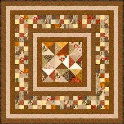"""CHOCOLATE BOX - 55"""" x 55"""" - Pre-cut Quilt Kit by Quilt-Addicts Lap size"""