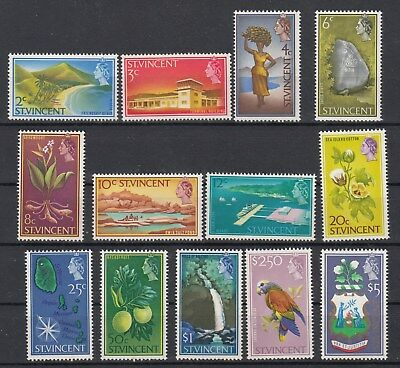 St.Vincent 1965 Definitives,Nature, SG232-245. 13 stamps. MUH. Cheap