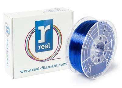 Véritable Filament 8719128327235 PETG, bobine de 1 kg, 1,75 mm, Bleu transparent