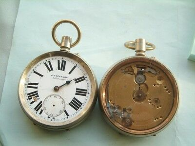 watchmakers 2 BIG goliath Old Pocket watch good for spare parts repair spares
