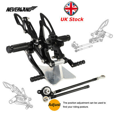 For Honda CBR1000RR 2004-2007 CBR600RR 03-06 Foot Pegs Rearset Rear Set UK Stock
