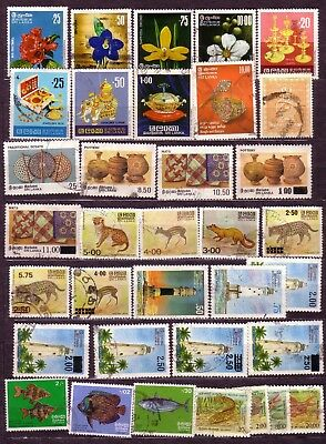 Stamps: Sri Lanka (Two) Lighthouses Fish Etc. Comms Selection With High Values