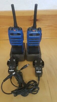Pair of Hytera PD715EX UHF ATEX Approved Portable Radio, Charger & Spare Battery