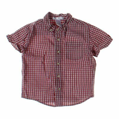 Janie and Jack Baby Boys Shirt, size 18 mo,  red,  cotton