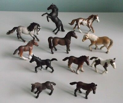 SCHLEICH HORSE Toy Animal Figures Set of 11 Model Horses