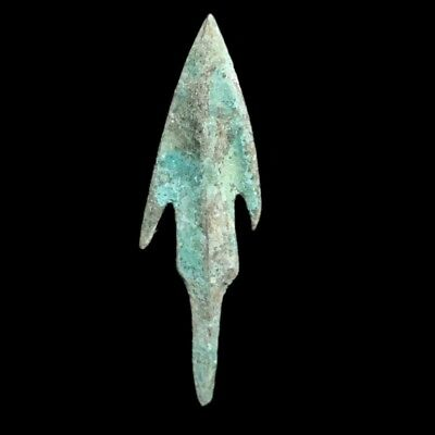 RARE ANCIENT VIKING BRONZE LARGE ARROW HEAD 9-10th CENTURY AD (2)