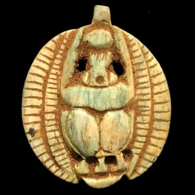 Beautiful Ancient Egyptian Scarab Amulet 300 Bc (5)