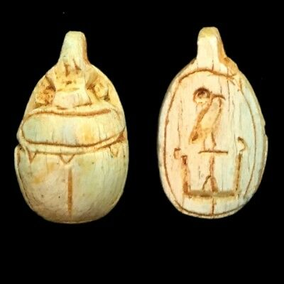 Beautiful Ancient Egyptian Scarab Amulet 300 Bc (6)