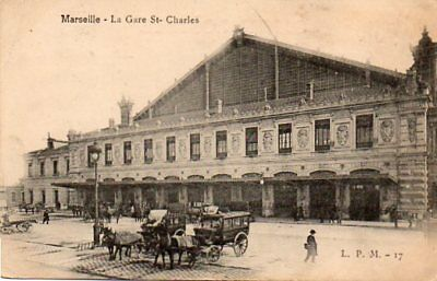 13.marseille.......cpa...animee...la Gare St Charles...1906.......lot A383