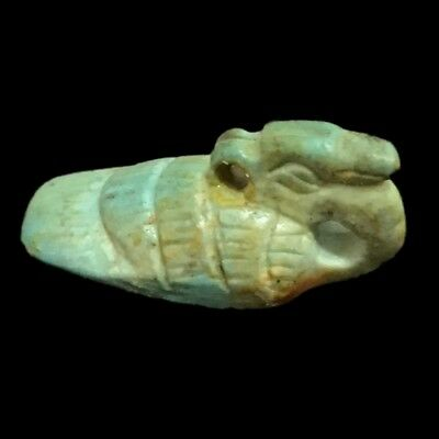 Beautiful Ancient Egyptian Blue Amulet 300 Bc (7)